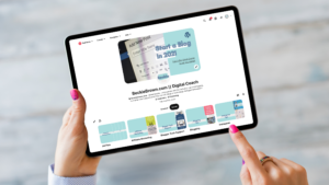 Pinterest Business Account Page on a Tablet Screen
