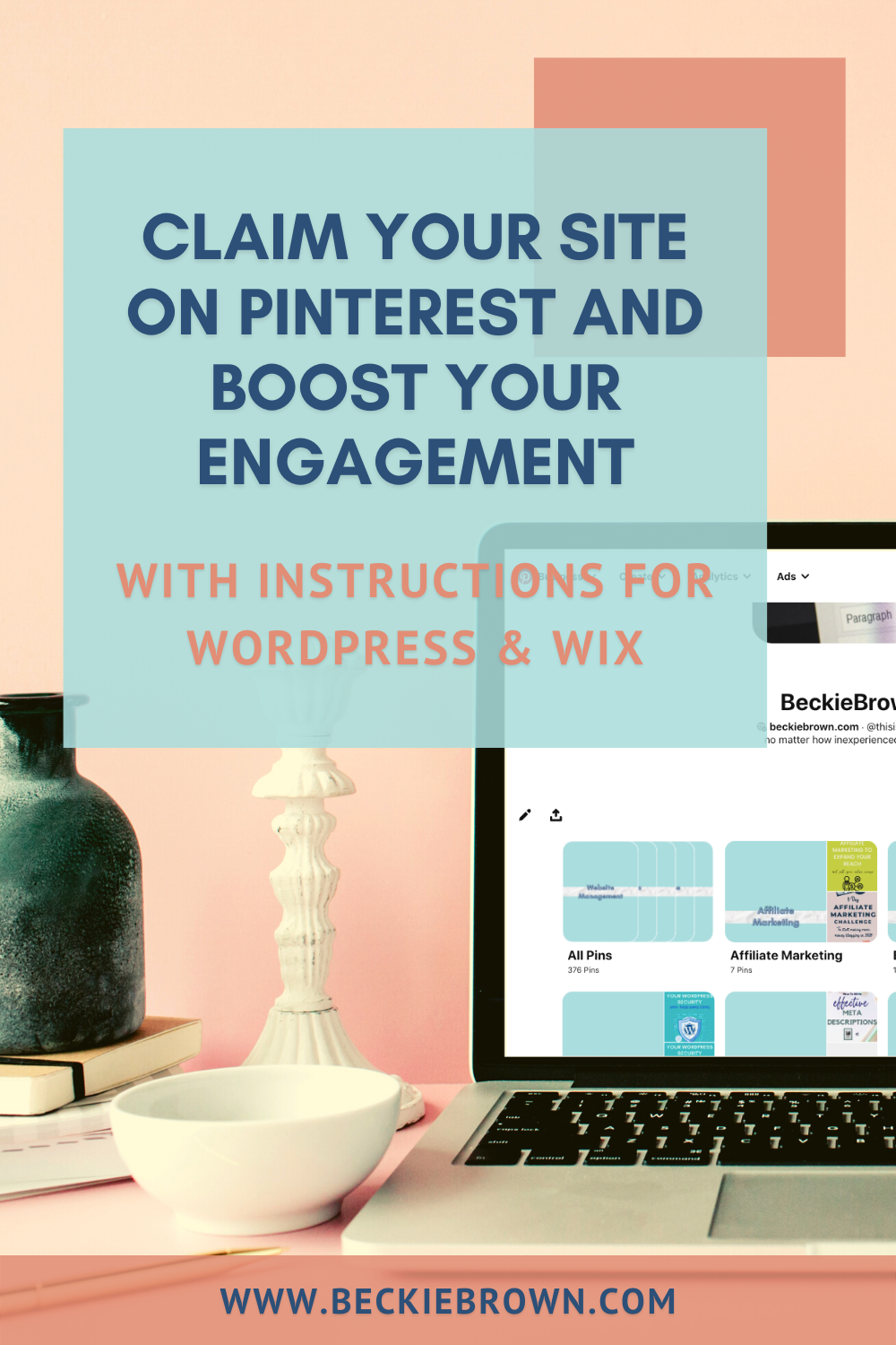 Have you claimed your site on Pinterest yet? Do you even know what I'm talking about? Let me explain. Business users on Pinterest have the option to 'claim' their website and external accounts for Instagram, Etsy, and YouTube. Learn about the benefits of claiming your website and see how to do it!