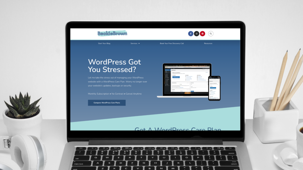 WordPress Care Plans and Other Services